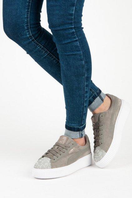 Sivé topánky Puma kod 36546402