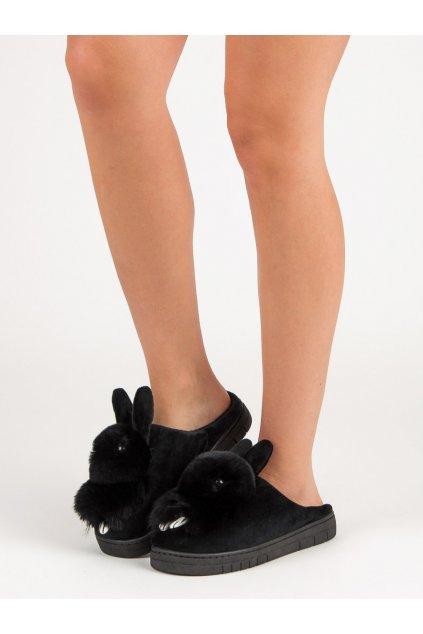 Čierne dámska obuv na doma - Shelovet kod MA01B