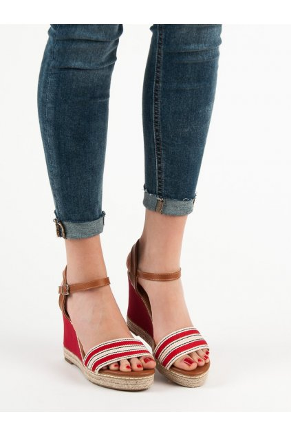 Červené sandále na platforme Primavera kod 9068R