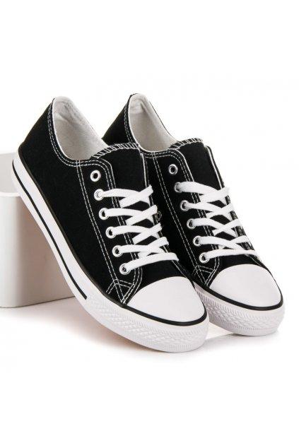 Čierne tenisky Shelovet kod XL03B/W