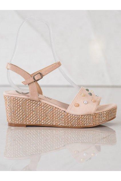 Hnedé sandále na platforme Aclys kod A119-07-03NU