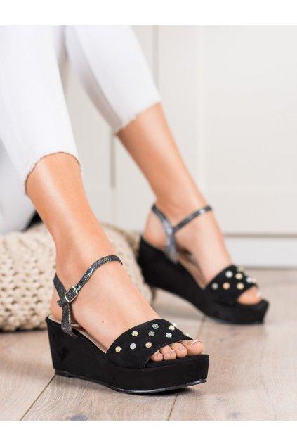 Čierne sandále Aclys kod A119-07-03NE
