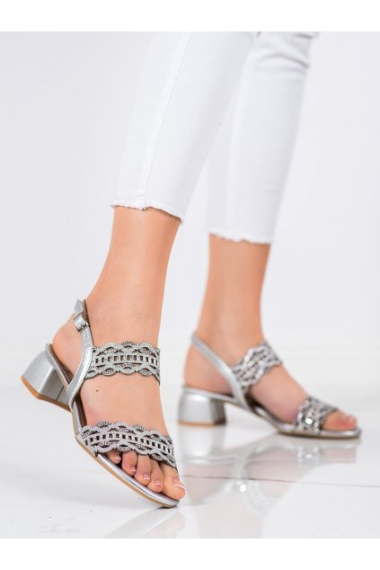 Sivé sandále Kylie kod K1912206PL