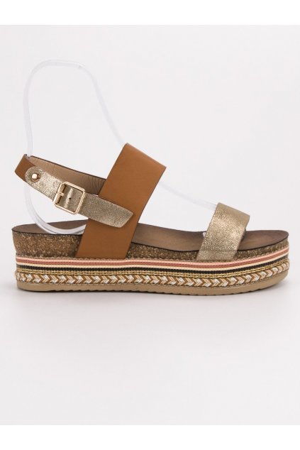 Hnedé dámske sandále na platforme Seastar AK26C