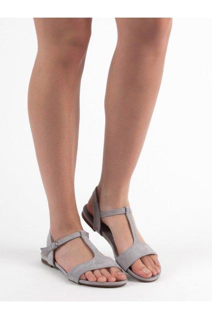 Sivé dámske sandále - Evento 9SD35-0992LT.G