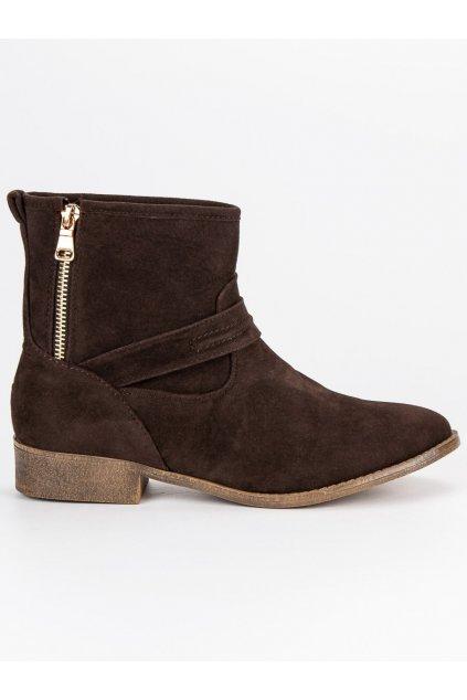 Hnedé semišové topánky LH
