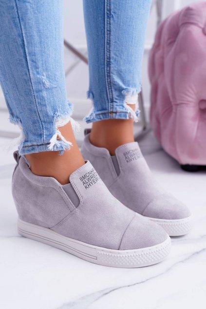 Dámske tenisky farba sivá kód obuvi XW36272 GREY