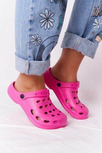 Dámske šľapky ružové penové Crocsy EVA