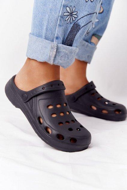 Dámske šľapky čierne Penové Crocsy EVA