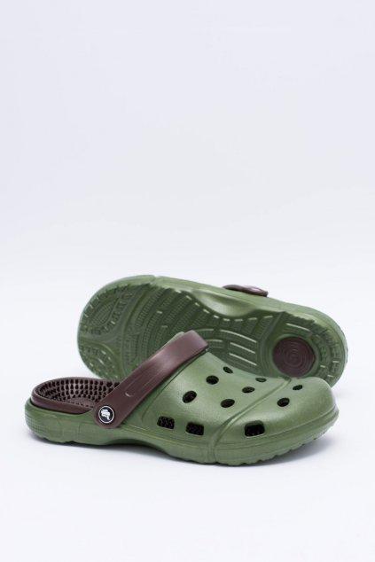 Pánske klasické šľapky Kroksy EVA Zelené
