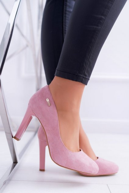 Dámske lodičky ružové semišové Campbell