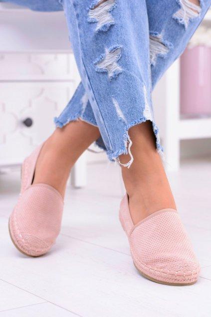 Ľahké espadrilky púdrovo ružové tenisky Estelle