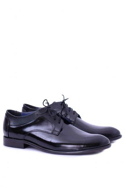 Pánske poltopánky farba čierna kód obuvi 598 TOSCA