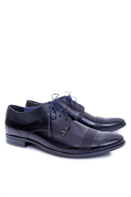 Pánske poltopánky farba čierna kód obuvi 635 TOSCA