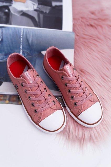 Detské tenisky farba ružová kód obuvi DD374089 PINK