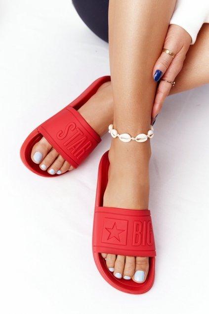 Dámske šľapky farba červená kód obuvi DD274A270 RED
