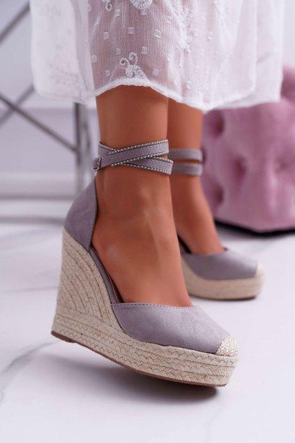 Dámske Sandále na kline sivé Canterola