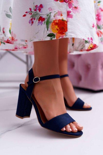 Dámske Sandále Semišové tmavo modré Baloo