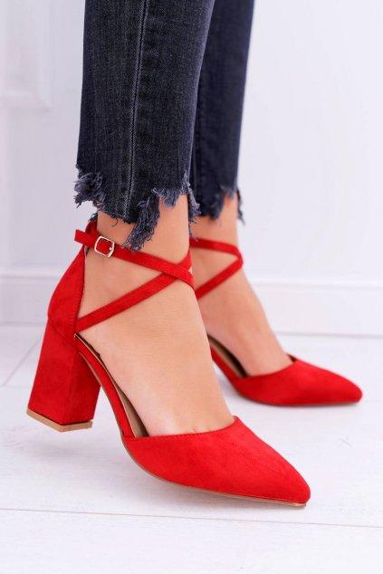 Dámske lodičky farba červená kód obuvi NC900 RED