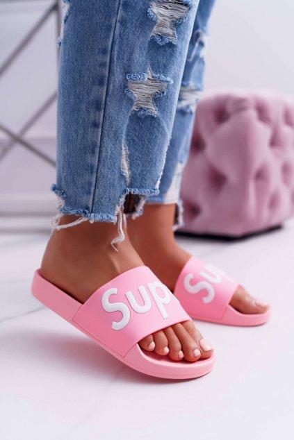 Dámske šľapky ružové Super Losaria