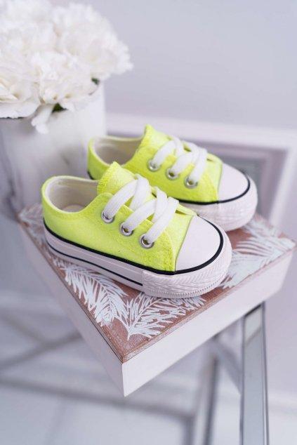 Detské tenisky farba žltá kód obuvi 863-C YELLOW / GREEN