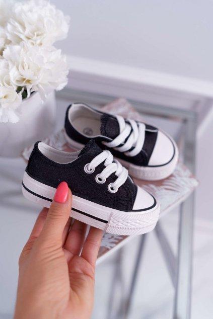 Detské tenisky farba čierna kód obuvi 863 BLK