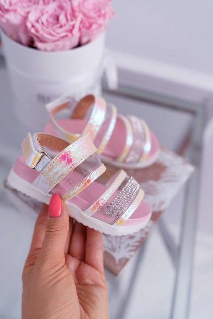 Detské sandále farba ružová kód obuvi 201-C PINK