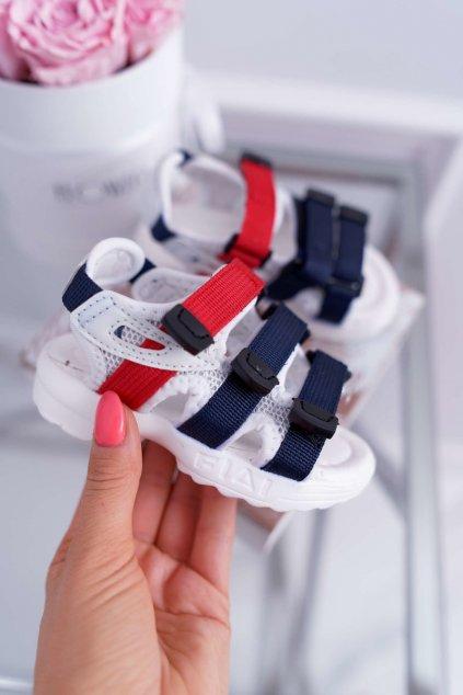 Detské sandále farba biela kód obuvi 1717-1 WHITE