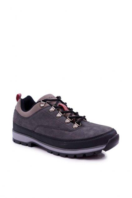 Pánske trekingové topánky farba sivá kód obuvi REF19-9760 GREY