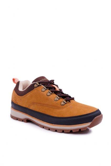 Pánske trekingové topánky farba hnedá kód obuvi REF19-9760 CAMEL