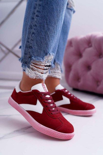 Dámske tenisky farba červená kód obuvi DD274298 RED
