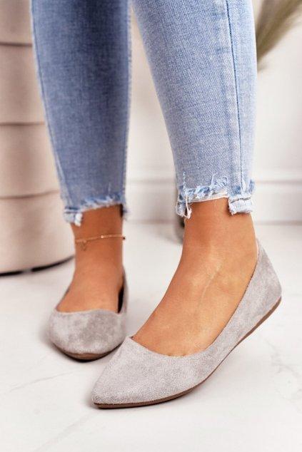 Dámske balerínky farba sivá kód obuvi WD39 GREY