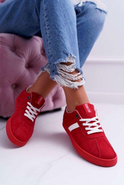 Dámske tenisky farba červená kód obuvi DD274622 RED