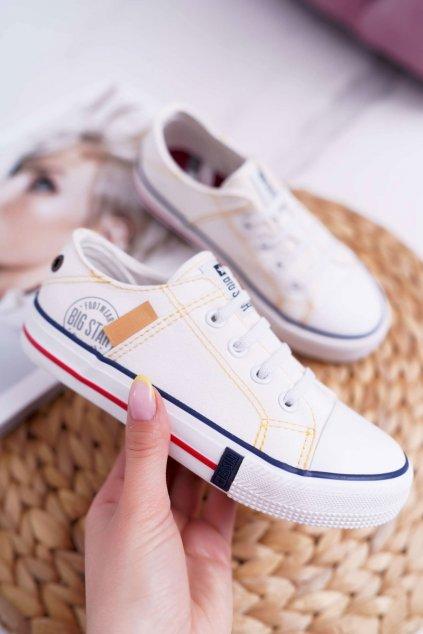 Detské tenisky farba biela kód obuvi DD374130 WHITE
