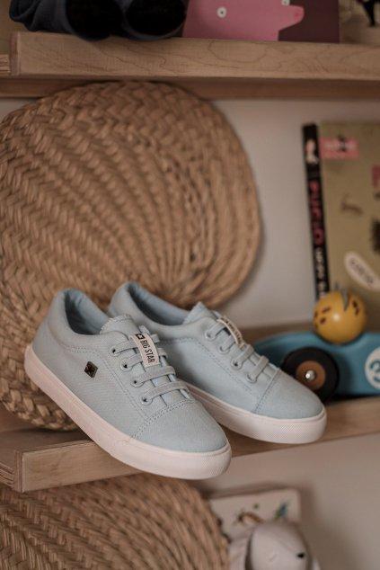 Detské tenisky farba modrá kód obuvi DD374075 BLUE