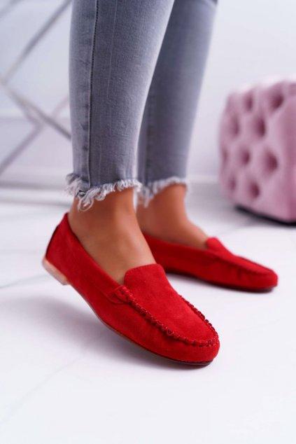 Dámske mokasíny farba červená kód obuvi MK721 RED
