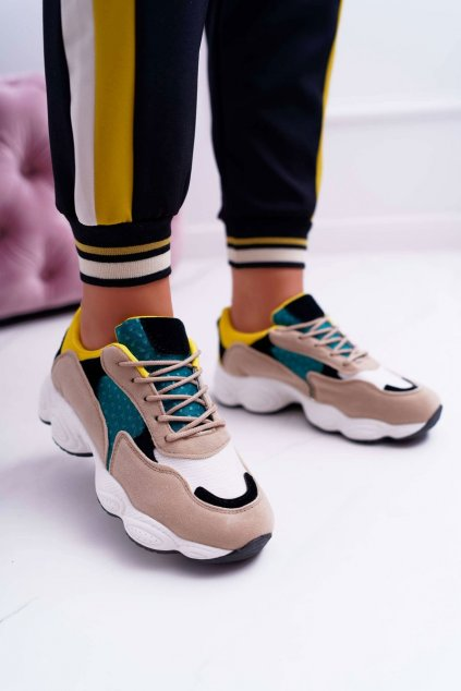 Dámske tenisky farba žltá kód obuvi H823 GREEN/YELLOW