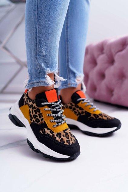 Dámska športová obuv s hrubou Podrážkou Leopard Sevana