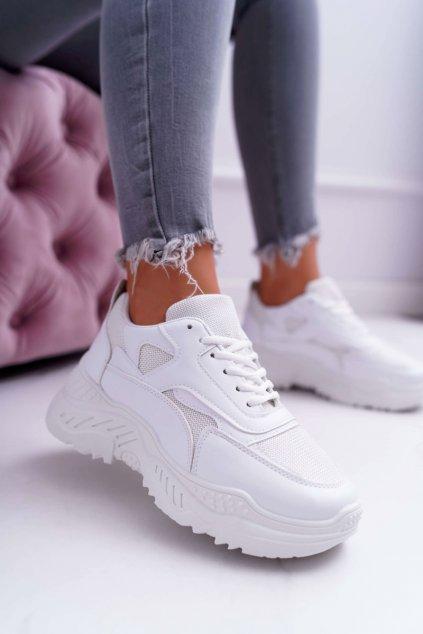Dámska športová obuv s hrubou Podrážkou biele Sevana