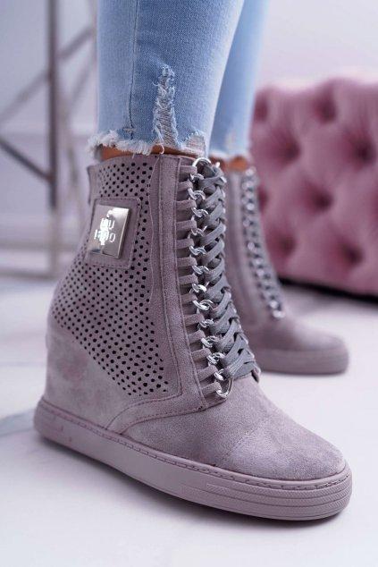 Dámske tenisky farba sivá kód obuvi B-3EA GREY/SILVER
