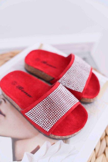 Detské korkové papuče červené Malena