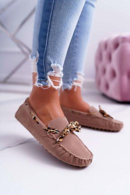 Dámske mokasíny farba hnedá kód obuvi 301-10 BEIGE