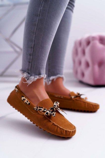 Dámske mokasíny farba hnedá kód obuvi 301-10 CAMEL