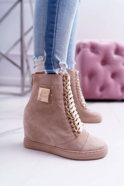 Dámska semišová Obuv Sneakers Lu Boo Béžové Monica