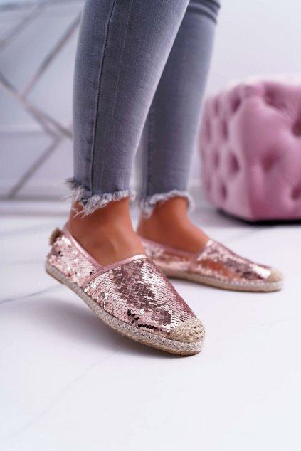 Dámske espadrilky farba ružová kód obuvi 2870-5 PINK