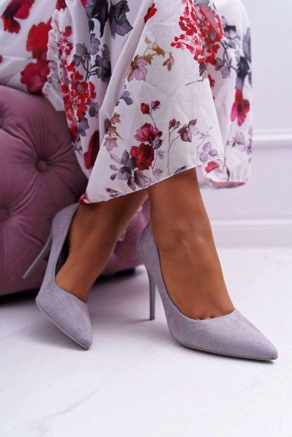 Dámske lodičky farba sivá kód obuvi LE07 GREY