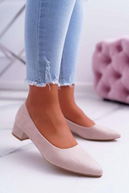 Dámske lodičky farba hnedá kód obuvi CC205 BEIGE