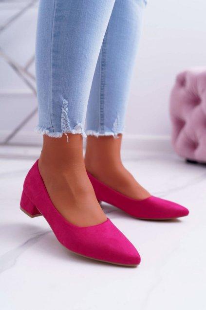 Dámske lodičky farba ružová kód obuvi CC205 FUSHIA