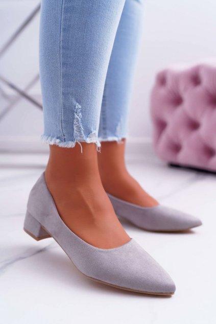 Dámske lodičky farba sivá kód obuvi CC205 GREY