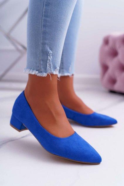 Dámske lodičky farba modrá kód obuvi CC205 BLUE
